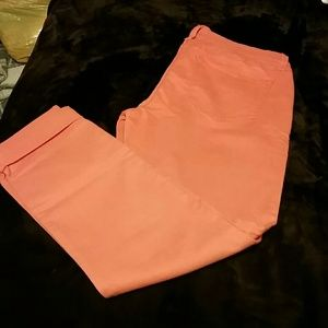 Very nice brushed cotton apricot colored jeans!
